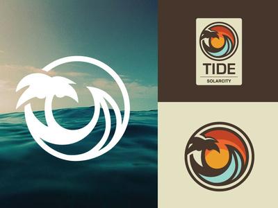 Ocean Surf Logo #ocean #logo #wave #palm tree #hawaii #beach #surf