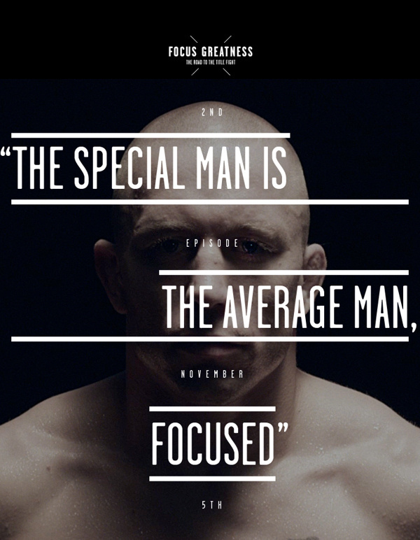 NOS & GSP – Focus Greatness #inspiration #fitness #typography