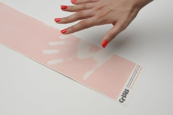 Crisis Direct Mail by Katie Peake, via Behance (Heat Sensitive) #graphic #thermo