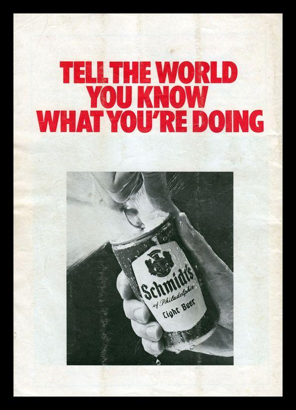 All sizes | Schmidt's Beer, 1973 | Flickr - Photo Sharing! #beer #advertisement #vintage #advertising