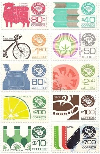 Vintage Mexican Stamps | FASHION INTEL #stamp #vintage