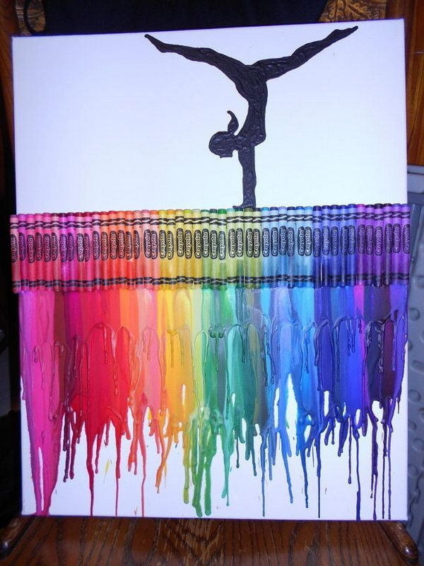 30+ Cool Melted Crayon Art Ideas #crayon #melted #art