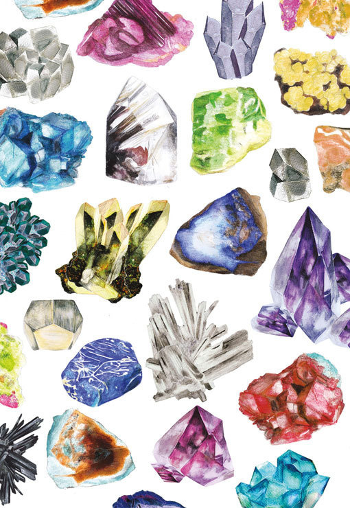 PatternBox_08 #illustration #gems #stones #painting