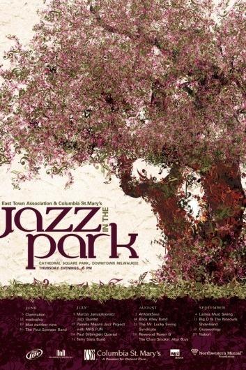 Jazz in the Park '08 by Svetlana Kluz at Coroflot #tree #print #design #graphic #poster