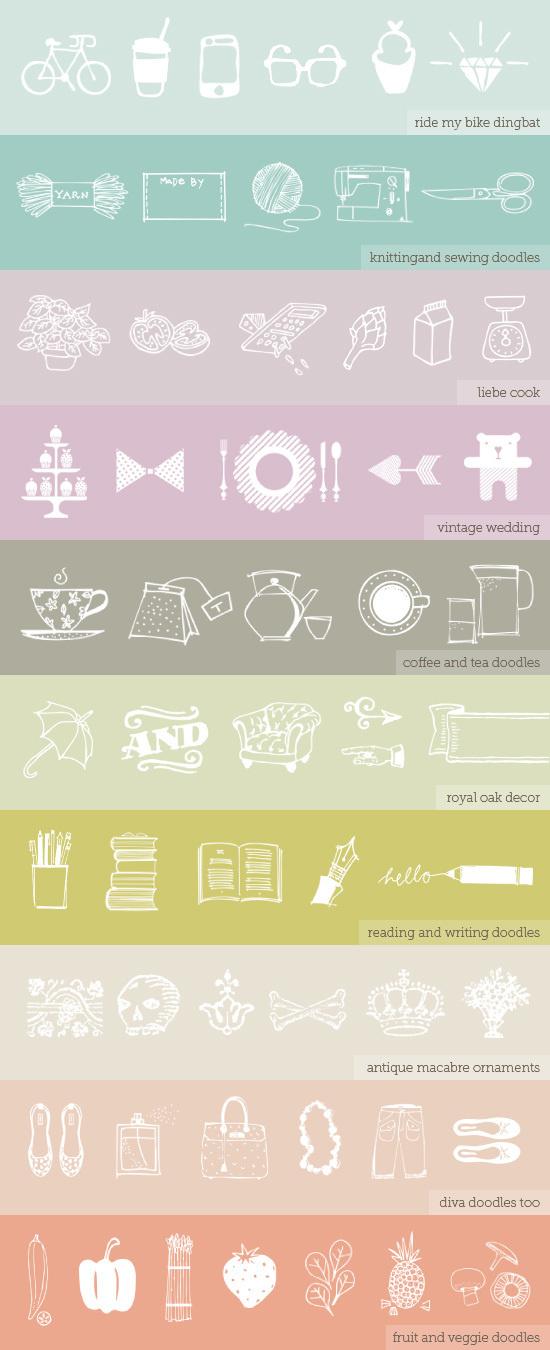 illustration fonts #type #color #font #illustrated