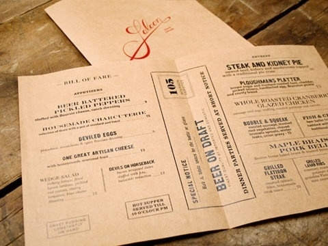 FFFFOUND! | design work life » Oat Creative: Saloon Identity #menu #branding #typography