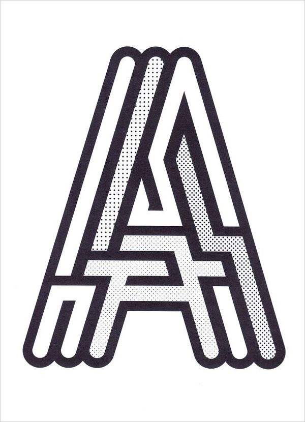 Maze 'A' #lettering #letters #typography