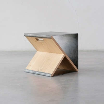 Steel stool | Minimalissimo #steel #wood #minimal #stool