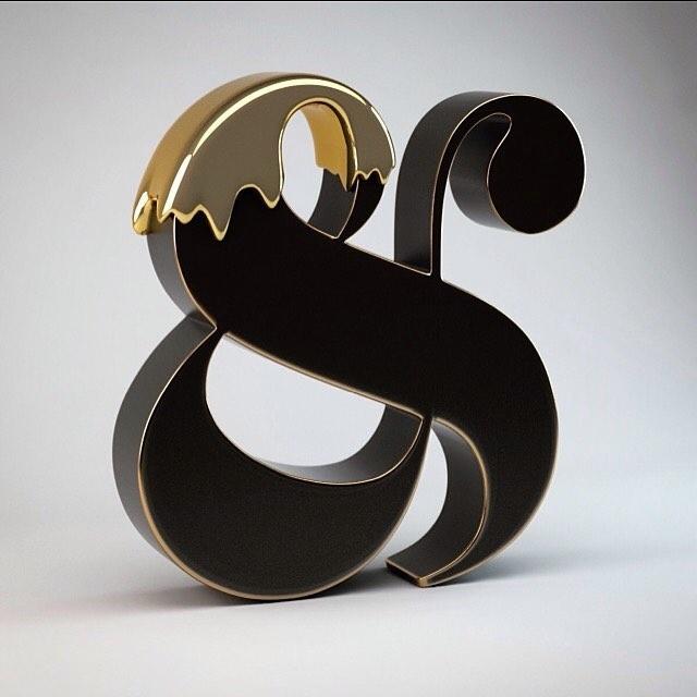 Golden ampersand
