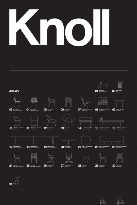 """""""Knoll"""" by NB: Studio. #design #icons #illustration #furniture #knoll #poster"""