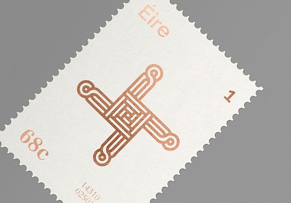 Éire Stamps on Behance #stamp #print #foil