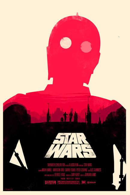 Star Wars Trilogy OLLY MOSS DOT COM #movie #retro #poster