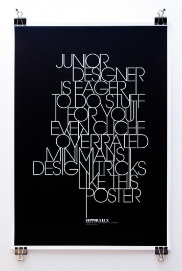 Self-Promotion | Flickr - Photo Sharing! #poster #typography