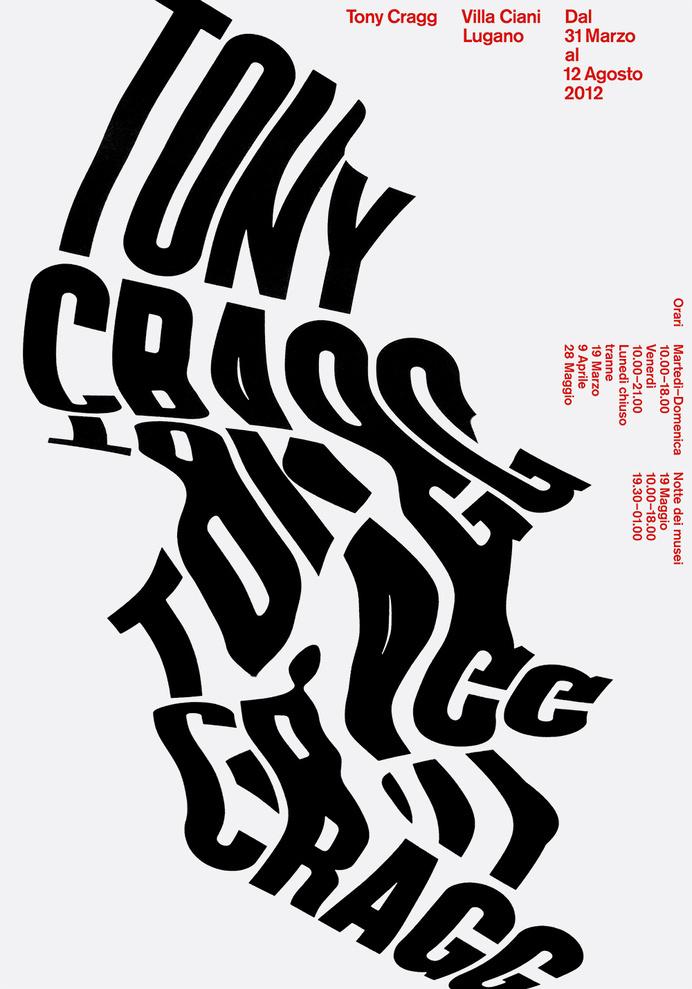 The-book-design #tony #poster #typography #lugano #swiss