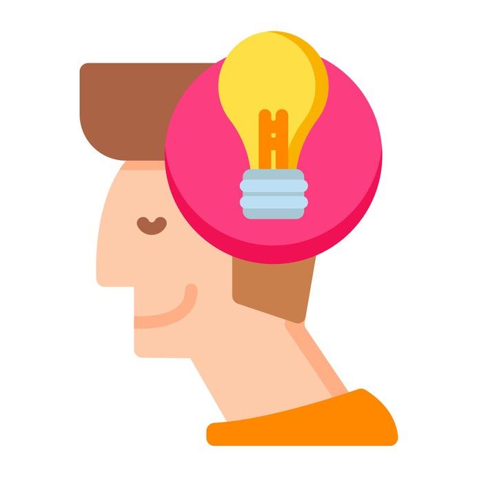 See more icon inspiration related to idea, account, head, bulb, lightbulb, person, user, avatar, designer, creativity, creative and happy on Flaticon.