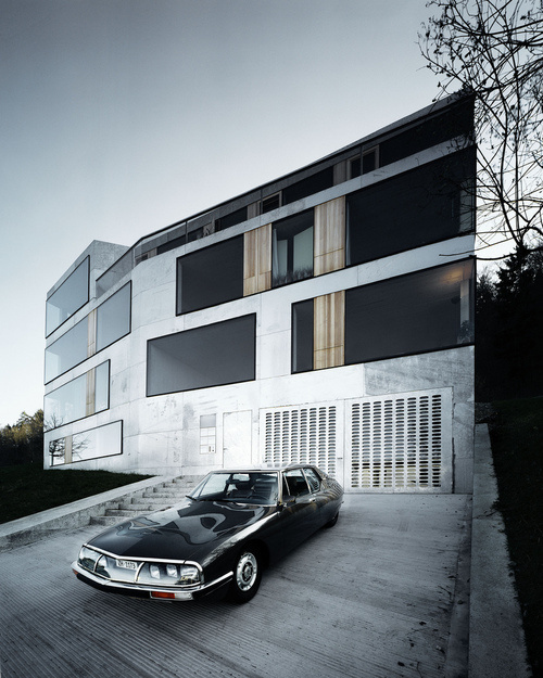 House #concrete #car #house