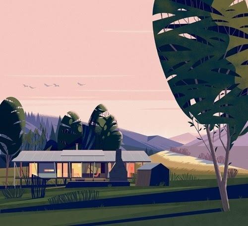 CRUSCHIFORM #vector #house #landscape #illustration #architecture #minimal #cabin #beauty