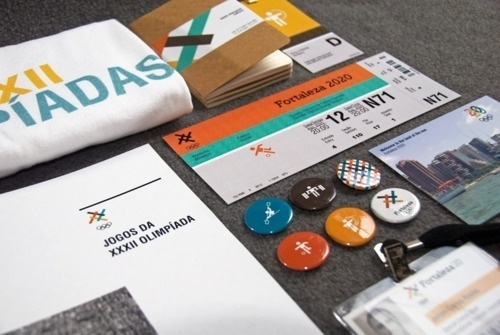Design Fodder (Fortaleza 2020 brand collateral by Guilherme.) #olympic #collateral #branding #bid