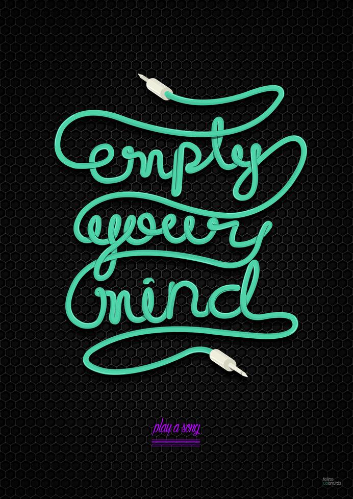 RAWZ #swirl #mind #neon #design #illustration #art #empty #type #cable #typography