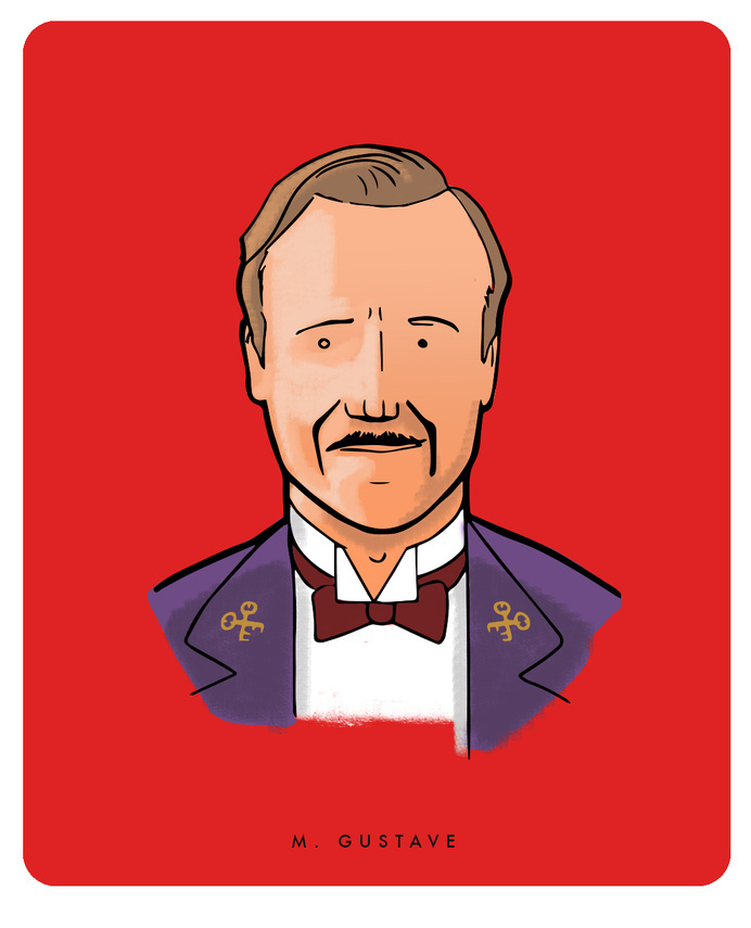 M. Gustave - The Grand Budapest Hotel #budapest #michael #grand #wes #anderson #illustration #constantine