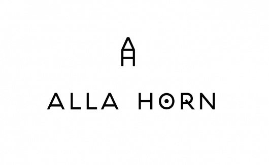 Marcus Hollands | Alla Horn #analog #logo #simple #identity #type #typography