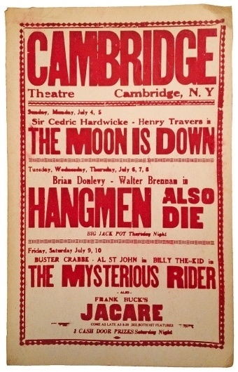 Más tamaños   Cambridge Theatre Cardboard Poster   Flickr: ¡Intercambio de fotos! #cine