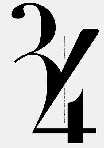 34 | Shiro to Kuro #lettering #design #graphic #numbers #type #typography