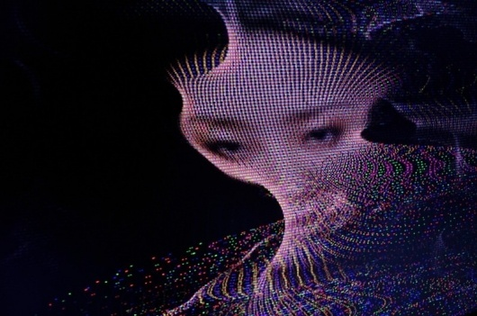 fragments of RGB #frame #rgb #girl #television #color #video #colors