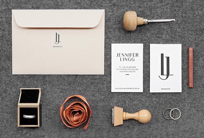Jennifer Lingg Schmuck by Rosali Thomas #stationary #graphic design #jewellery