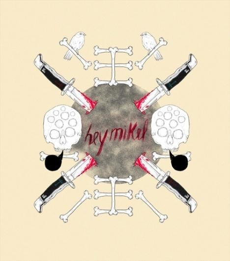 heymikel! #illustrations #skull #knife #heymikel #bones