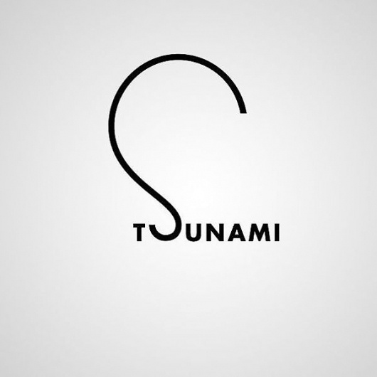 Creative Word Images by Ji Lee | Pondly #tsunami #design #art #typography