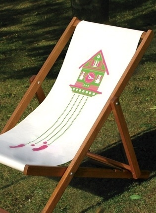 Made By Morris #printed #silkscreen #pink #chair #deck #hand #green