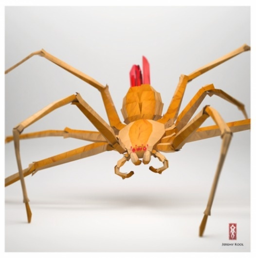 Jeremy Kool | Fubiz™ #orange #yellow #red #spider