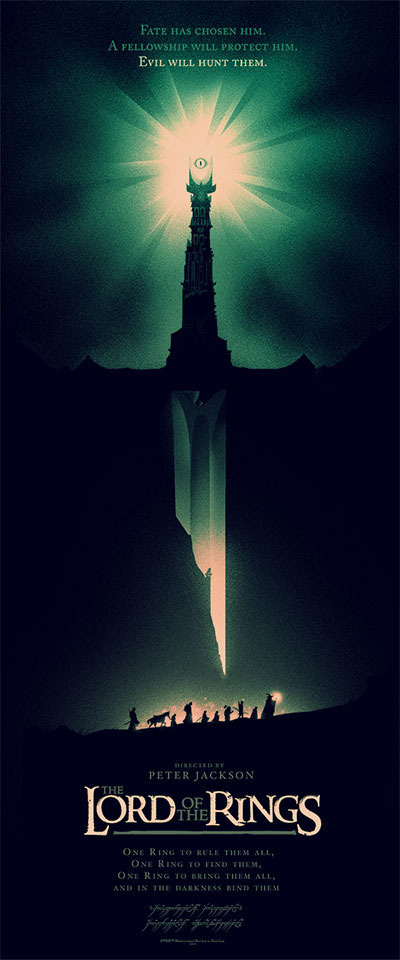 Olly Moss Lord of the Rings Poster #rings #of #design #lord #the #illustration #poster #olly #moss