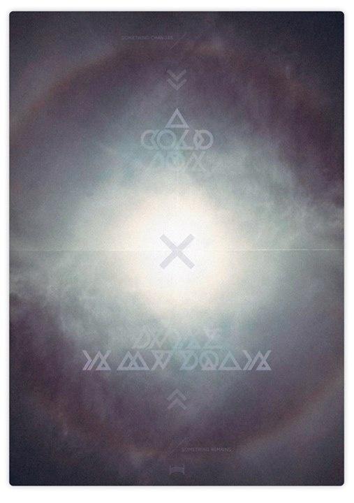 I Feel the Sun - Hadrien Degay Delpeuch #sun #vector #sky #cross #paper #poster #dark #blue #light #typography