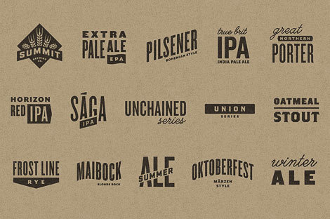 Summit Brewing Logos #packaging #beer
