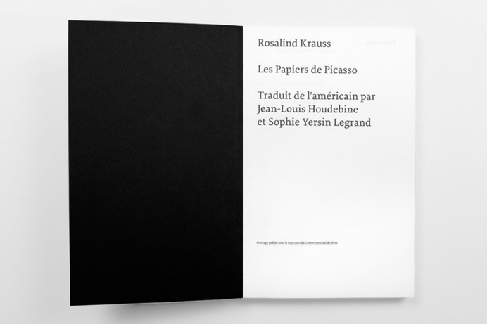 Schaffter Sahli: Rosalind Krauss   Sgustok Design