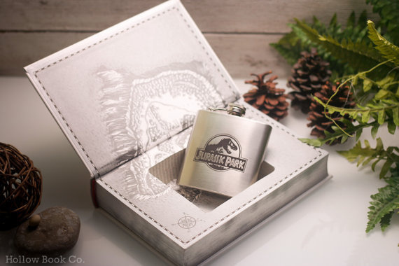 Hollow Book Safe & Hip Flask Jurassic Park: The Lost World (LEATHER BOUND) #safe #flask #world #book #park #hollow #the #jurassic #lost #dinosaurs #hip