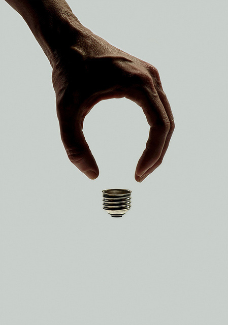 brockdavis:Art for Wired on Flickr.invisible bulb #idea