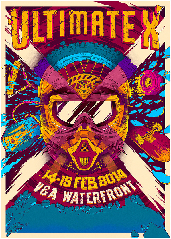 Ultimate X #event #illustration #vibrant #poster