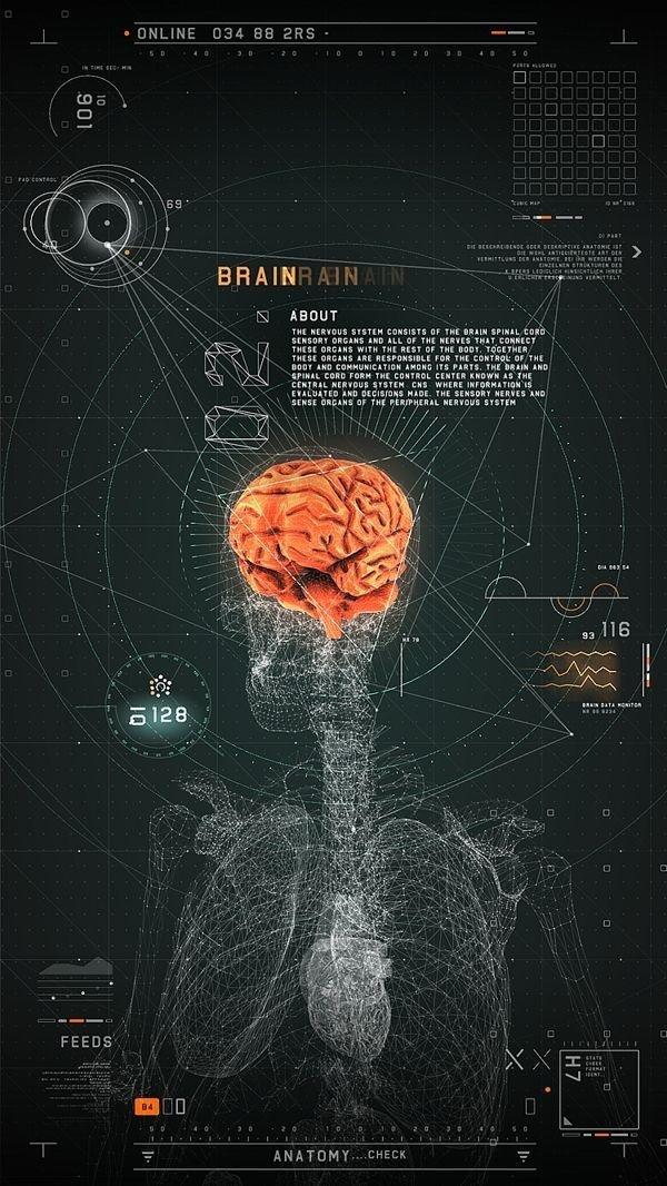 FUTURISTIC MEDICAL INTERFACE / 2RISE #interface #biological