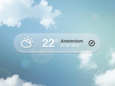 Dribbble - Weather Pop-up by Bart Ebbekink #app #weather
