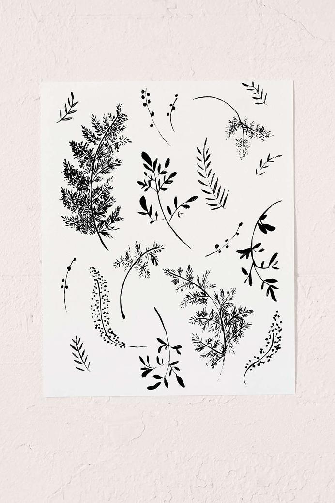Shannon Kirsten Ferns Art Print, Urban Outfitters