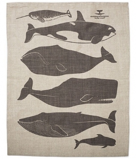 Whales Tea Towel by enormouschampion on Etsy #towel #illustration #etsy #tea #whales