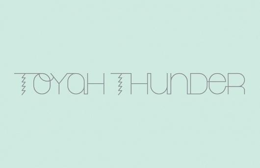 Toyah Thunder - AshwinMurli #thunder #lightning #typography