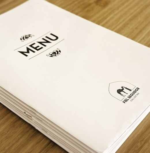 all in one / Bar Fiel Seguidor Viseu | 2011 www.artspazios.pt #business #packaging #card #print #design #book #restaurant #architecture #bar #art #poster #logo #layout #artspazios #typography