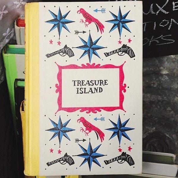 mikeyburton on Instagram #gun #book #cover #island #illustration #treasure #parrot #pirate