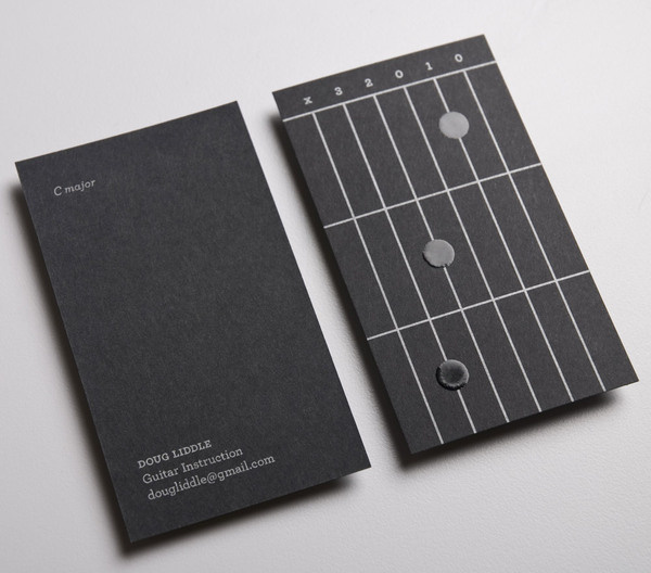 lovely stationery doug liddle guitar instructions 2 #music #print #cards #business