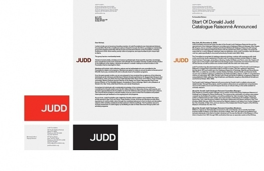 Judd Foundation #branding #design #graphic #identity #remake