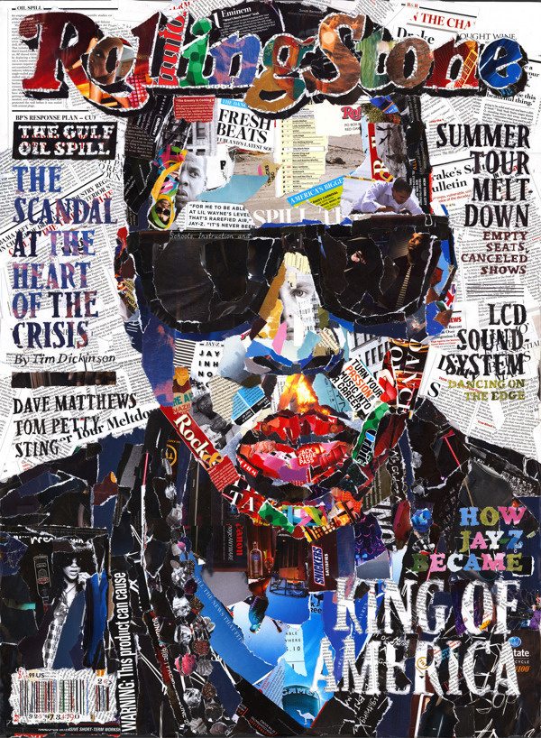 Jay-Z Covers Rolling Stone #z #illustration #jay #hip #hop #paperwork #collage #editorial #magazine